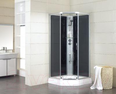 Душевая кабина Bravat Waterfall N10806 (черный)