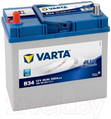Автомобильный аккумулятор Varta Blue Dynamic B34 545 158 033 (45 А/ч)