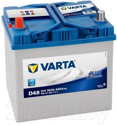 Автомобильный аккумулятор Varta Blue Dynamic D48 560 411 054 (60 А/ч)