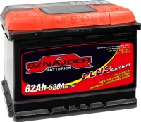 Автомобильный аккумулятор Sznajder Plus 62 R низкий (62 А/ч) -