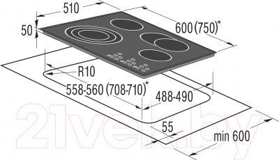 Электрическая варочная панель Korting HK6203X