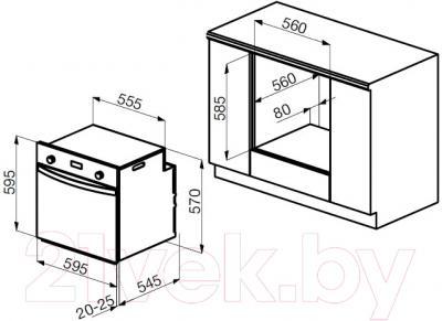 Газовый духовой шкаф Korting OGG1052CRR