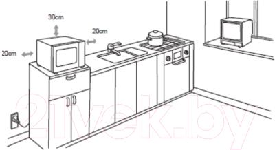 Микроволновая печь Korting KMO823XN - схема