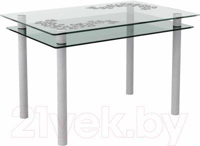 Обеденный стол Artglass Сказка Цветы и листья