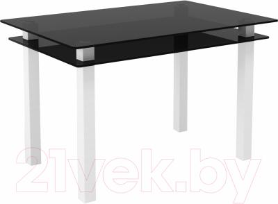Обеденный стол Artglass Кристалл (серый/белый)