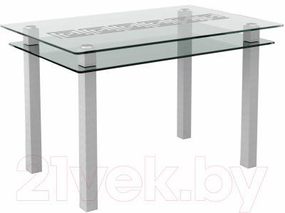 Обеденный стол Artglass Кристалл Меандр