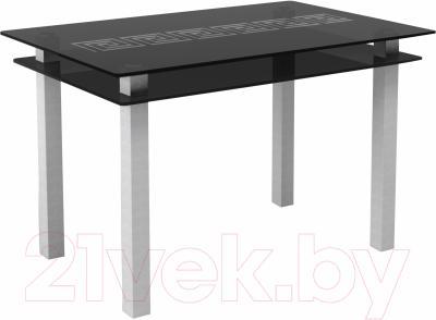 Обеденный стол Artglass Кристалл Меандр (серый)