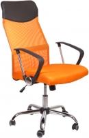 Кресло офисное Седия Aria Chrome Eco (черный/оранжевый) -