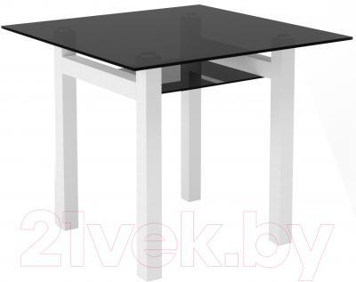 Обеденный стол Artglass Tornado 90 (серый/белый)
