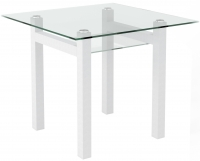Обеденный стол Artglass Tornado 90 (белый) -