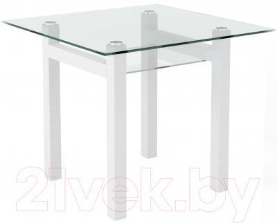 Обеденный стол Artglass Tornado 90 (белый)