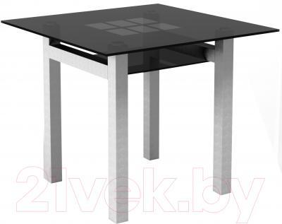 Обеденный стол Artglass Tornado 90 Квадраты (серый)