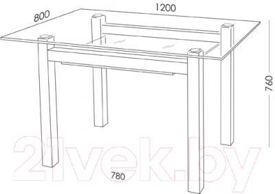 Обеденный стол Artglass Tornado 120