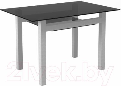 Обеденный стол Artglass Tornado 120 (серый)