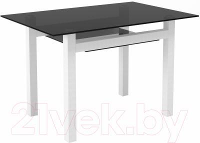 Обеденный стол Artglass Tornado 120 (серый/белый)