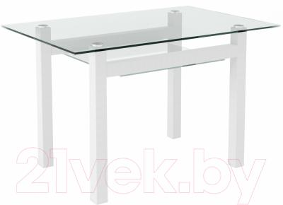 Обеденный стол Artglass Tornado 120 (белый)