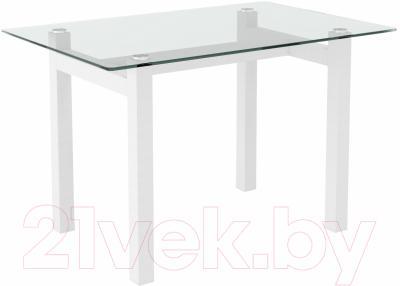 Обеденный стол Artglass Quardi 120 (белый)