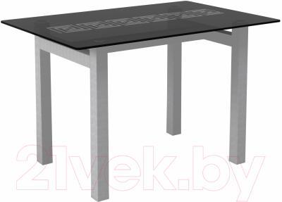 Обеденный стол Artglass Quardi 120 Меандр (серый)