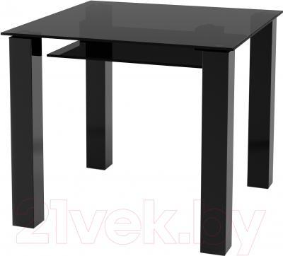 Обеденный стол Artglass Palermo 90 (серый/черный)