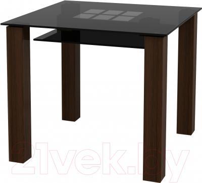 Обеденный стол Artglass Palermo 90 Квадраты (серый)