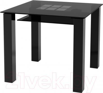 Обеденный стол Artglass Palermo 90 Квадраты (серый/черный)
