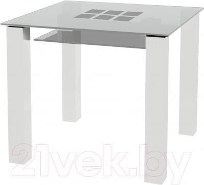 Обеденный стол Artglass Palermo 90 Квадраты (белый)