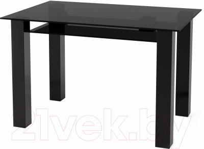Обеденный стол Artglass Palermo 120 (серый/черный)