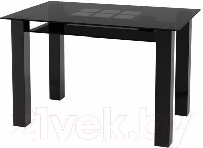 Обеденный стол Artglass Palermo 120 Квадраты (серый/черный)
