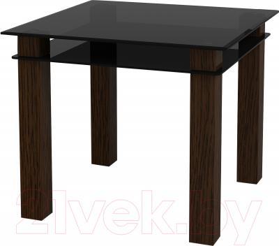 Обеденный стол Artglass Tandem 90 (серый)