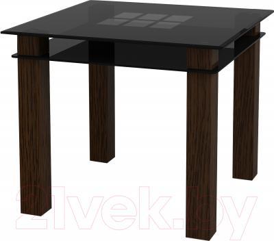 Обеденный стол Artglass Tandem 90 Квадраты (серый)