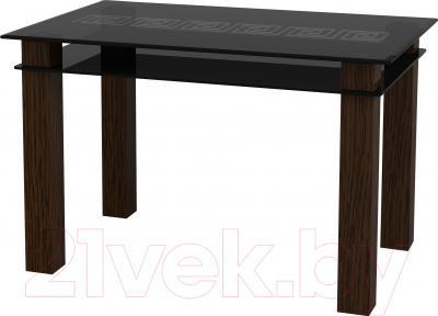 Обеденный стол Artglass Tandem 120 Меандр (серый)