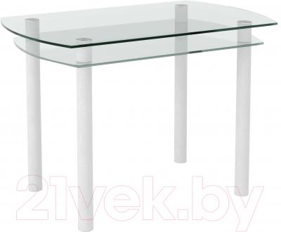 Обеденный стол Artglass Октава (белый)