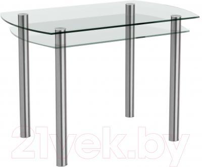Обеденный стол Artglass Октава (хром)