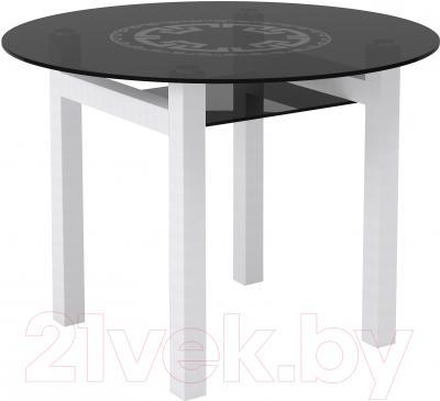 Обеденный стол Artglass Ringo Cleo Круг (серый/белый)