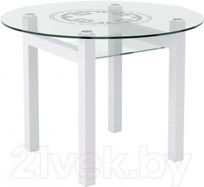 Обеденный стол Artglass Ringo Cleo Круг (белый)