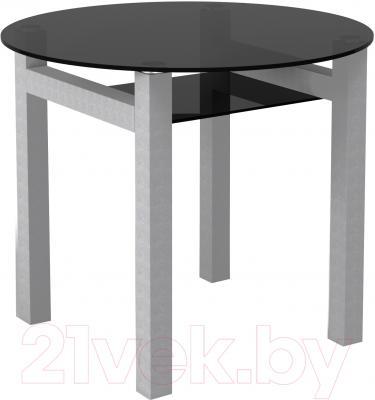Обеденный стол Artglass Ringo Cleo 90 (серый)