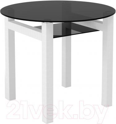 Обеденный стол Artglass Ringo Cleo 90 (серый/белый)