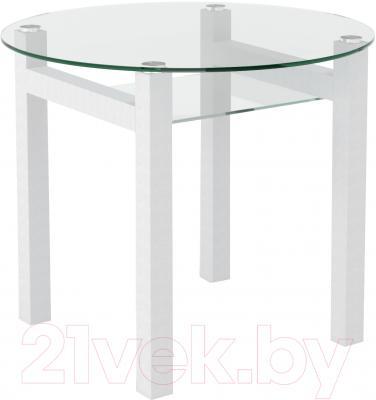 Обеденный стол Artglass Ringo Cleo 90 (белый)