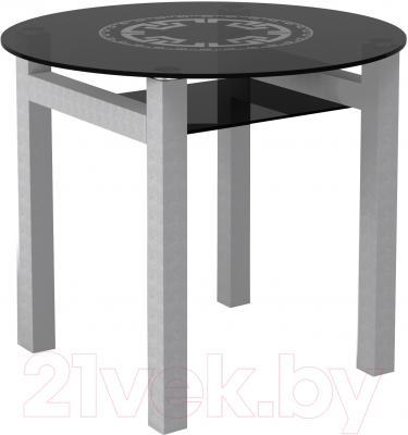 Обеденный стол Artglass Ringo Cleo 90 Круг (серый)