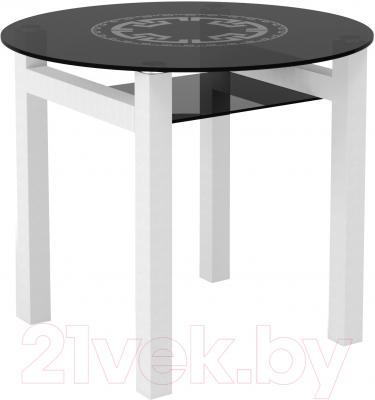 Обеденный стол Artglass Ringo Cleo 90 Круг (серый/белый)