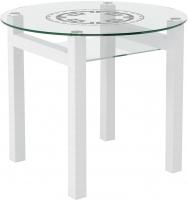 Обеденный стол Artglass Ringo Cleo 90 Круг (белый) -