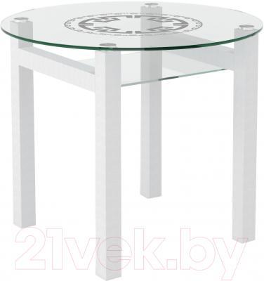 Обеденный стол Artglass Ringo Cleo 90 Круг (белый)