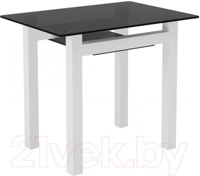 Обеденный стол Artglass Comfort Cleo (серый/белый)