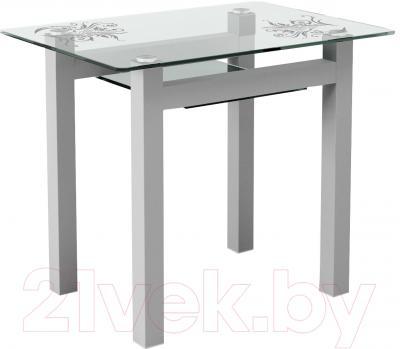 Обеденный стол Artglass Comfort Cleo Завитки