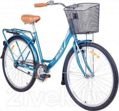Велосипед Aist Jazz 1.0 (голубой/графит)