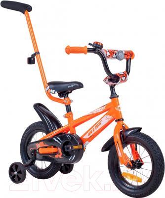 Детский велосипед с ручкой Aist Pluto 12 (красный)
