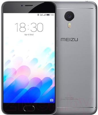 Смартфон Meizu M3 Note 32Gb (серый/черный)