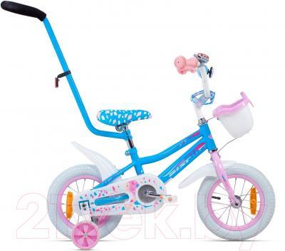 Детский велосипед с ручкой Aist Wiki (12, голубой)