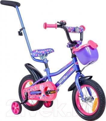 Детский велосипед с ручкой Aist Wiki (12, фиолетовый)