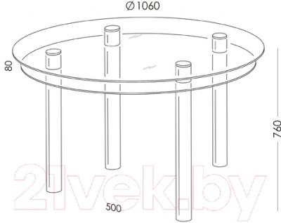 Обеденный стол Artglass Ringo Tale (серый)